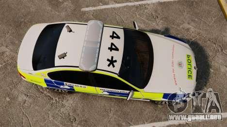BMW 330i Hampshire Police [ELS] para GTA 4 visión correcta