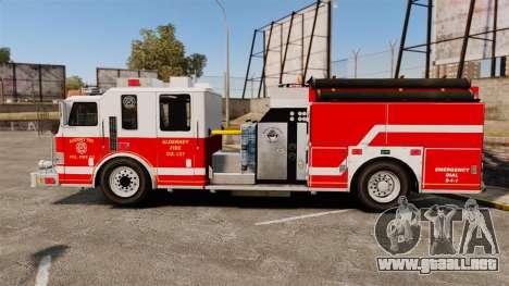 Firetruck Alderney [ELS] para GTA 4 left