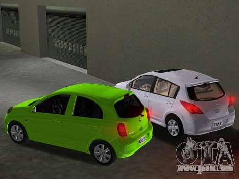 Nissan Tiida para GTA Vice City interior