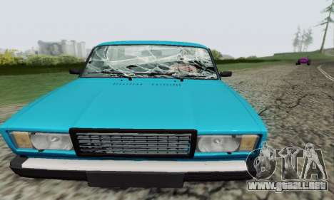 VAZ 2107 Coupe para vista lateral GTA San Andreas