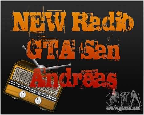 Nueva radio para GTA San Andreas