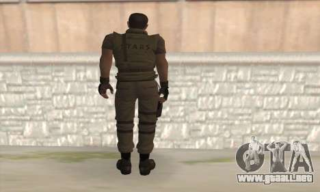 Chris Redfield v2 para GTA San Andreas segunda pantalla
