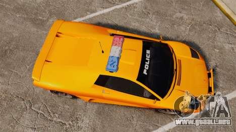 Infernus Police para GTA 4 visión correcta
