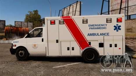 Brute B.C. Ambulance Service [ELS] para GTA 4 left