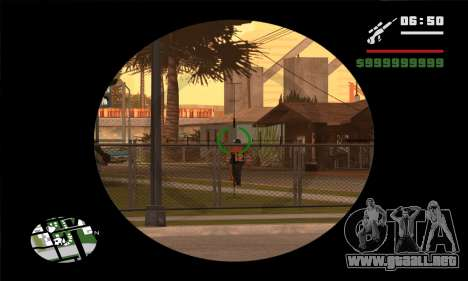 GTA V Sniper Scope para GTA San Andreas tercera pantalla