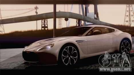 Aston Martin V12 Zagato 2012 [IVF] para GTA San Andreas vista hacia atrás