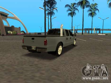 Ford F-350 para GTA San Andreas vista hacia atrás