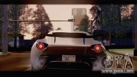 Aston Martin V12 Zagato 2012 [IVF] para GTA San Andreas left