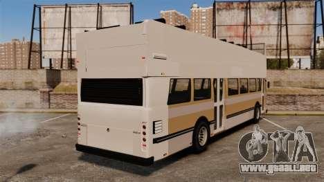 Bus turístico para GTA 4 Vista posterior izquierda