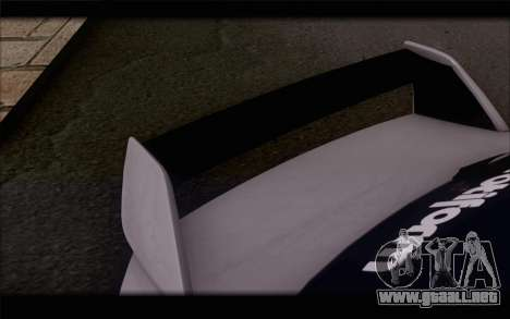 Mitsubishi Lancer Evolution Stance para GTA San Andreas vista hacia atrás