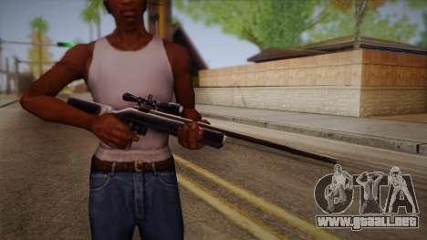 Rifle de francotirador de Max Payn para GTA San Andreas tercera pantalla