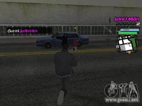HUD para GTA San Andreas novena de pantalla