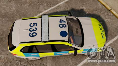 BMW X5 City Of London Police [ELS] para GTA 4 visión correcta