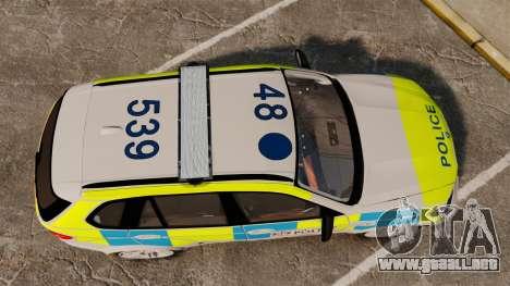 BMW X5 City Of London Police [ELS] para GTA 4 visión correcta