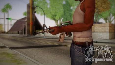 M4 de Max Payne para GTA San Andreas segunda pantalla