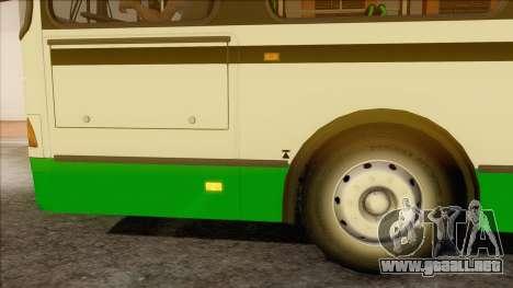 LIAZ 5256.57 para GTA San Andreas vista posterior izquierda