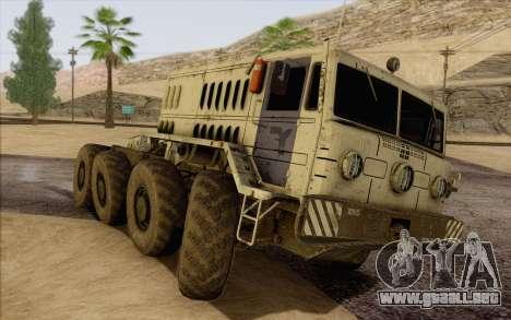 MAZ 535 blanco para visión interna GTA San Andreas