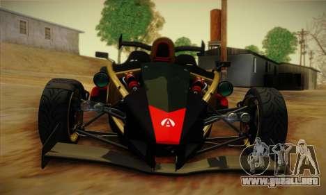 Ariel Atom 500 2012 V8 para visión interna GTA San Andreas