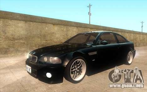 BMW M3 e46 Duocolor Edit para visión interna GTA San Andreas