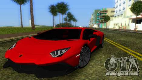 Lamborghini Aventador LP720-4 50th Anniversario para GTA Vice City vista superior