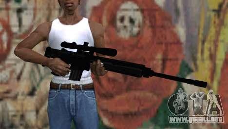 Snajperckaâ rifle negro para GTA San Andreas tercera pantalla