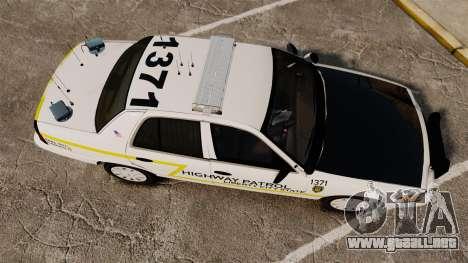 Ford Crown Victoria 2011 LCSHP [ELS] para GTA 4 visión correcta