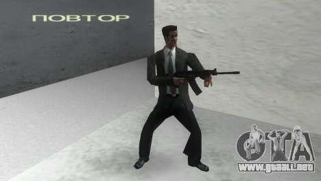 Con escopeta Saiga 12 k para GTA Vice City segunda pantalla