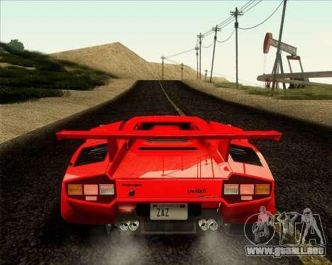 Lamborghini Countach LP500 Quattrovalvole 1988 para GTA San Andreas vista hacia atrás