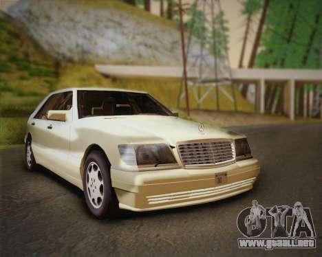Mercedes-Benz S600 V12 Custom para GTA San Andreas vista posterior izquierda