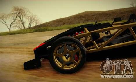 Ariel Atom 500 2012 V8 para la vista superior GTA San Andreas