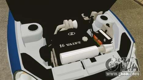 Vaz-2170 Lada Priora DPS para GTA 4 vista hacia atrás