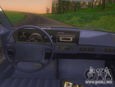 Oldsmobile Cutlass Ciera Cruiser para la visión correcta GTA San Andreas