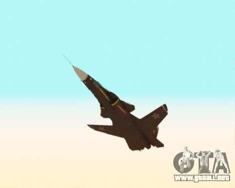 Su-47 Berkut v1.0 para vista lateral GTA San Andreas