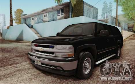 Chevrolet Suburban FBI para GTA San Andreas left