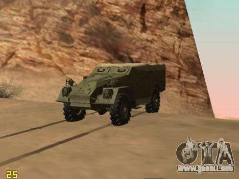 BTR-40 para GTA San Andreas vista posterior izquierda