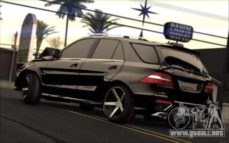 Mercedes-Benz ML63 AMG para GTA San Andreas left