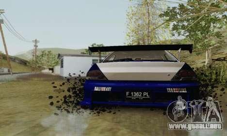 Mitsubishi Lancer EVO VIII MR GSR WMMT para la visión correcta GTA San Andreas