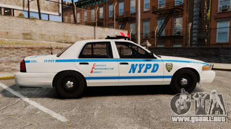 Ford Crown Victoria 1999 NYPD para GTA 4 left