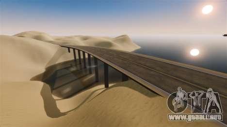 Ubicación de la carretera del desierto para GTA 4 quinta pantalla