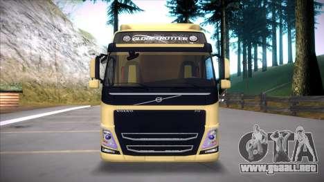 Volvo FM 2013 para GTA San Andreas vista hacia atrás