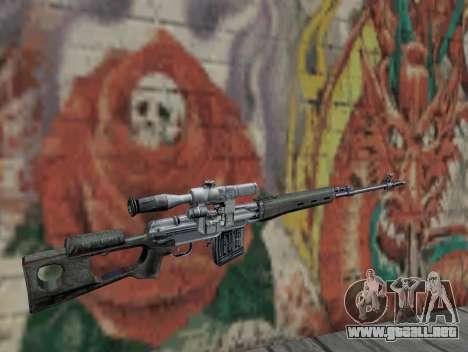 Rifle de francotirador de S.T.A.L.K.E.R. para GTA San Andreas segunda pantalla