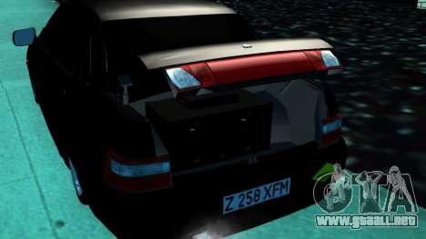 VAZ 2110 Kazajstán para GTA San Andreas vista posterior izquierda