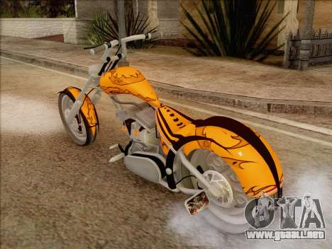 Sons Of Anarchy Chopper Motorcycle para GTA San Andreas left