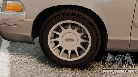 Ford Crown Victoria 1999 para GTA 4 vista interior