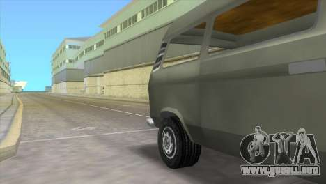 Volkswagen Transporter T3 para GTA Vice City vista lateral izquierdo