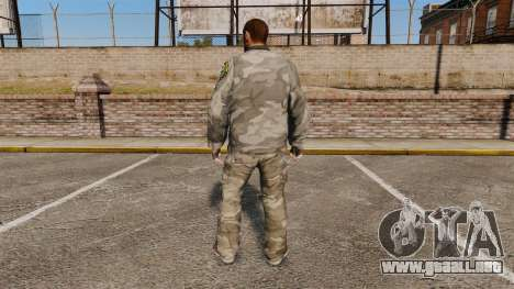 Traje camuflaje urbano para GTA 4 segundos de pantalla