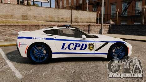 Chevrolet Corvette C7 Stingray 2014 Police para GTA 4 left