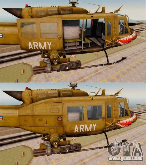 Bell UH-1 Iroquois v2.0 Gunship [EPM] para GTA 4 vista desde abajo