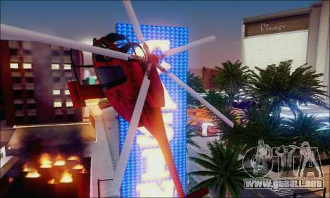 Helicóptero de ataque buitre de GTA 5 para vista inferior GTA San Andreas