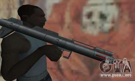 Lanzador de misiles de Star Wars para GTA San Andreas tercera pantalla